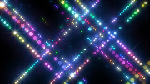 Neon LED Dot9 A4c HD Stock Video Footage