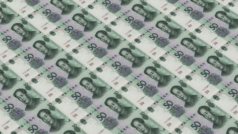 Printing Money Animation,50 RMB bills Animation