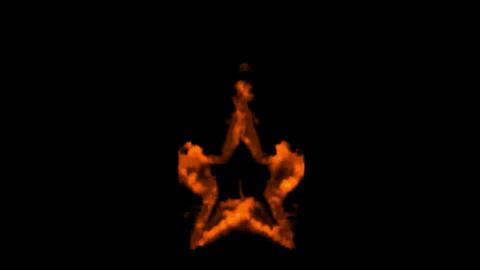 fire stars burning Stock Video Footage