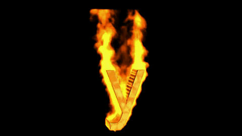 fire letter y Stock Video Footage