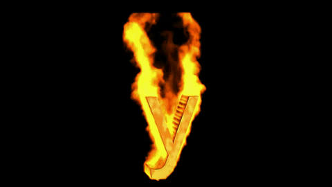 fire letter y Animation