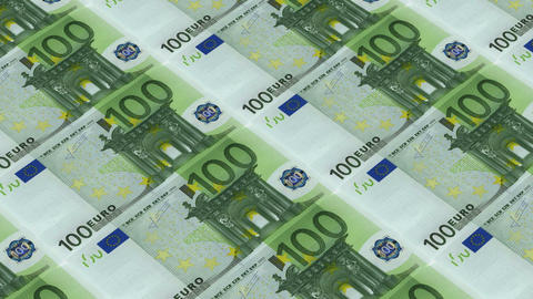 100 euro bills,Printing Money Animation Stock Video Footage