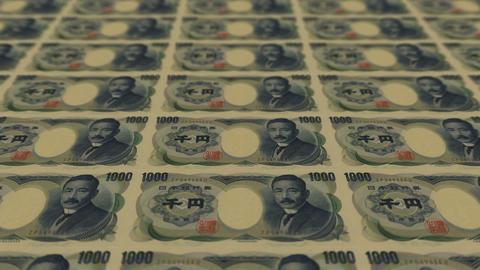 1000 japan yen,Printing Money Animation Stock Video Footage