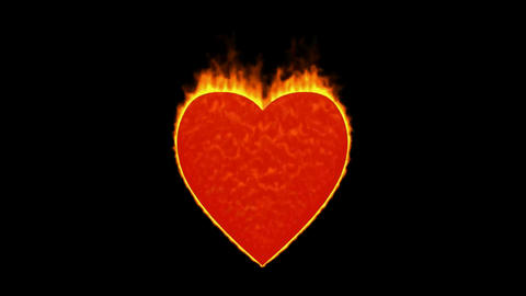valentine's day energy heart,fire heart burning Stock Video Footage