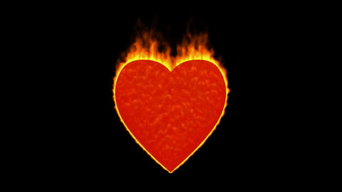 valentine's day energy heart,fire heart burning Animation