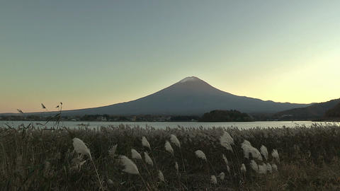 Autumn Landscape in Mt.Fuji and Kawaguchi... Stock Video Footage