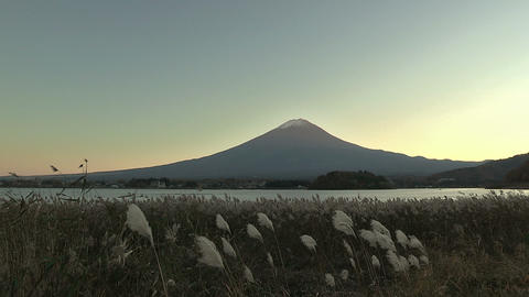 Autumn Landscape in Mt.Fuji and Kawaguchi... Stock Video Footage
