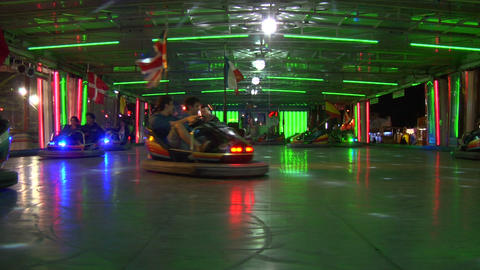 bumper car 02 e Stock Video Footage