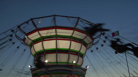 chain carousel 02 Stock Video Footage