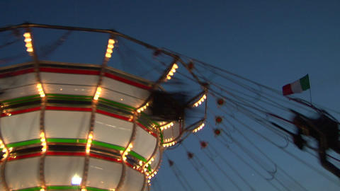 chain carousel slow motion 03 Stock Video Footage
