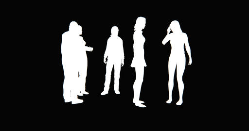 4k Business people silhouette talking or Using mobile Phones Footage