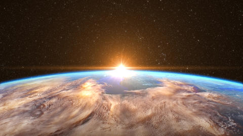 Sunrise over the Earth Animation