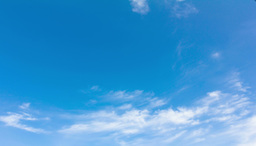 4K. Timelapse Rolling Clouds With Blue Sky Background - ULTRA HD, 4096x2304 stock footage