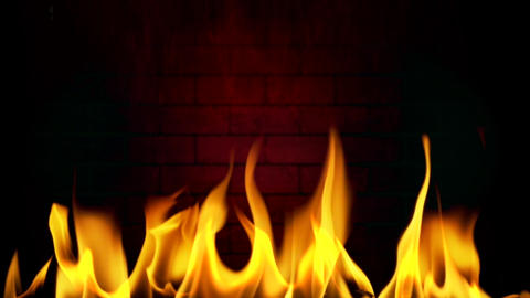 Fireplace - 02 - Flame, Smoke, Wood - Loop Animation
