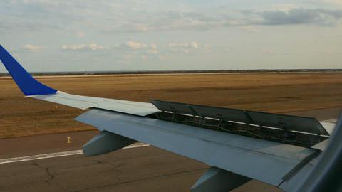 Landing airplane Footage