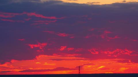 Sunset cloudscape Footage