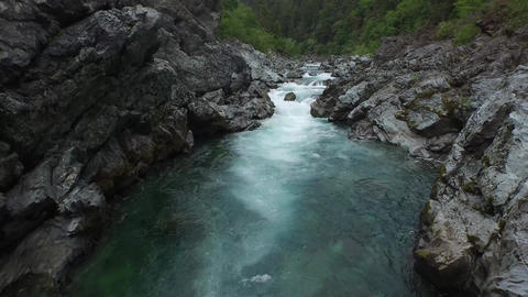 Aerial view of a beautiful california river Live Action