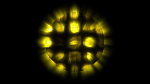 Yellow lights sphere Animation