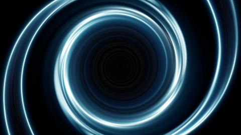 Blue spiral lights Animation
