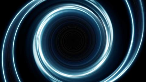 Blue spiral lights Animation