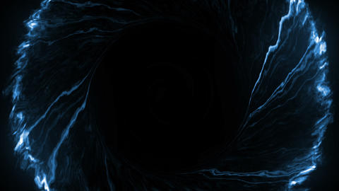 Blue fancy black hole Animation