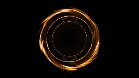 Orange black hole Animation