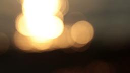 defocused sunset on sea wave Footage