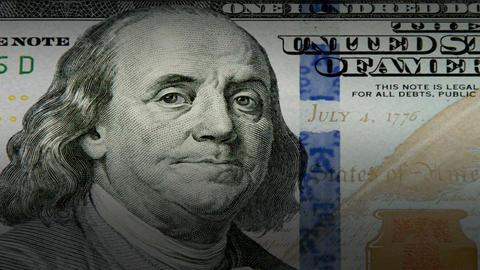 Dollar close up movement Animation