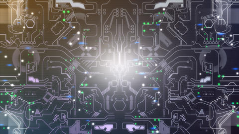 Electronic circuit background design Stock Video Footage