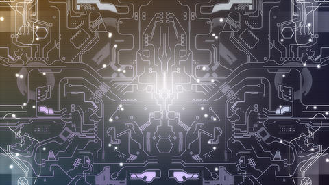 Electronic circuit background design Animation