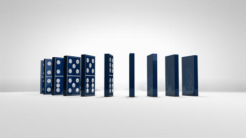domino, effect, pieces, collapse, block, art Animation