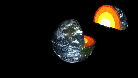 Education, seience animation Earth layers Animation