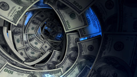 Banknote, Business, Cash, Crisis, Dollar, Financial, Flow, Hole, Money, Tunnel stock footage
