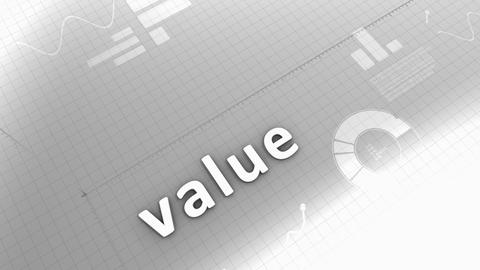 Growing chart animation, Value Stock Video Footage