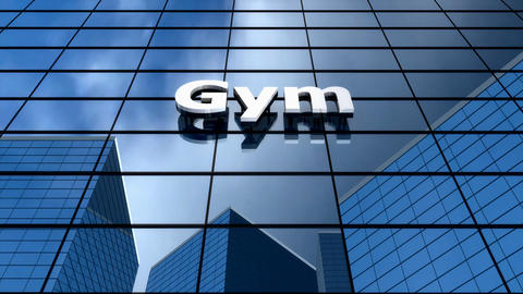 Gym building blue sky time-lapse Animation
