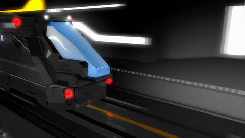 3d rendering, high speed rail Animation