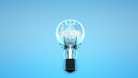 Conceptual animation light bulb idea Animation