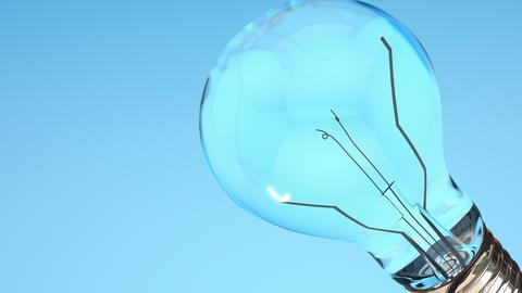 Conceptual animation light bulb idea Stock Video Footage