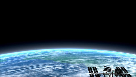 Beautiful low earth orbit view Stock Video Footage