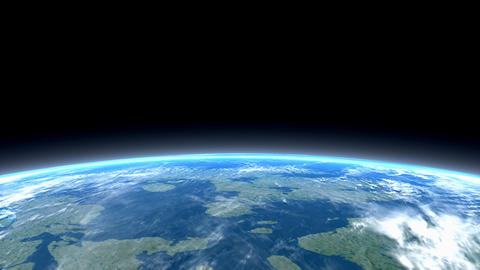 Space, Earth, Low Orbit, Astronomy, View, Science, Planet stock footage