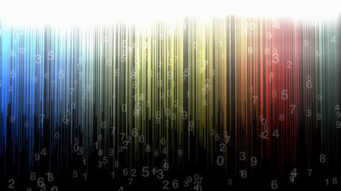 Numerical background animation, abstract, art, random, stripes Animation