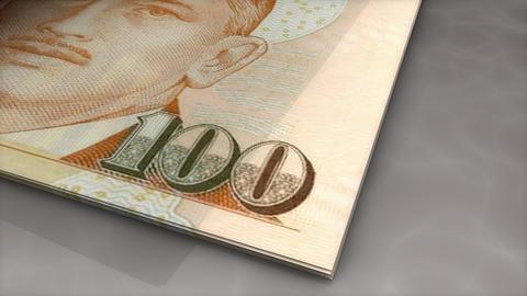 Paper money flips animation Singapore dollar Animation