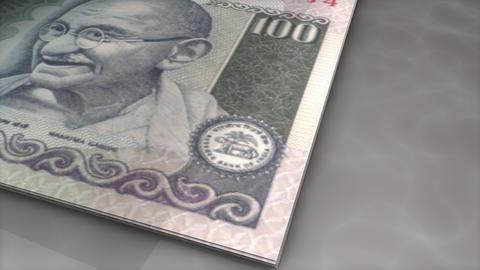 Paper money flips animation Rupee Animation