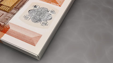 Paper money flips animation Euro Animation