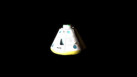 Artist rendering, manned space capsule module Animation