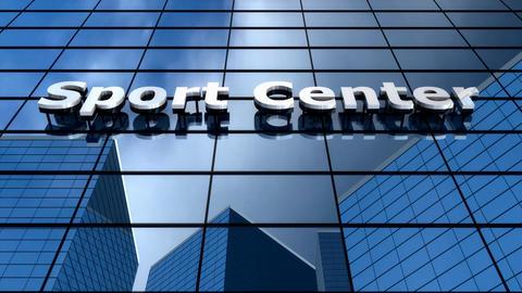 Sport center building blue sky time-lapse Animation