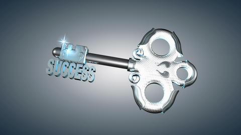 Concept animation success key Animation
