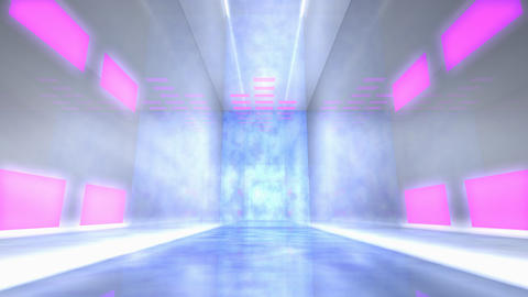 Virtual studio music stage set Animation