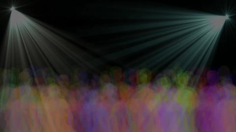 colored flash and colored people dancing, Stock Animation