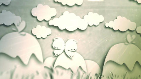 Papercut animation CG動画素材